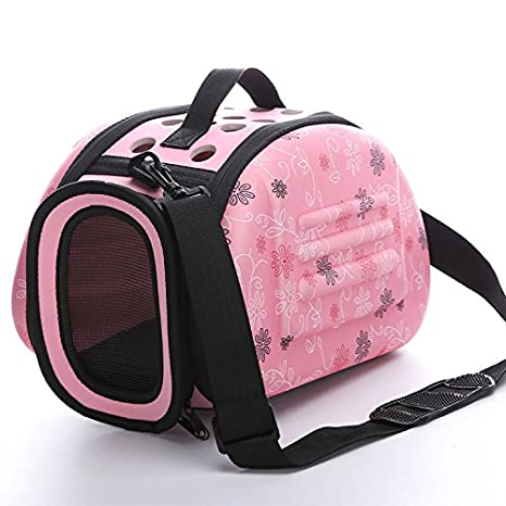 89364c4256cb Foldable Pet Dog Cat Carrier Cage Collapsible Travel Kennel - Portable Pet  Carrier Outdoor Shoulder Bag for Puppy Kitty Small Medium Animal Bunny ...