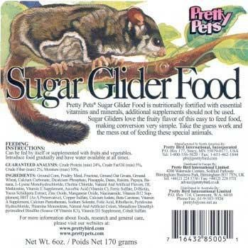 What Do Sugar Gliders Eat List