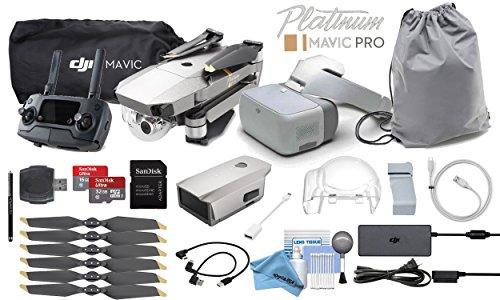 DJI Mavic Pro Platinum (Obsidian) with DJI Goggles FPV Combo (Version 2)