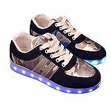 Catkit Men Women Lace Up Luminous LED Light Sneakers Unisex Flashing Shoes Size 6.5 B(M) US Black
