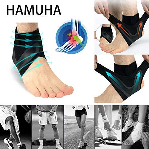 Ankle Support Breathable Ankle Brace for Running Basketball Ankle Sprain Men Women (Right Foot)