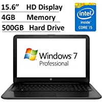 2016 NEW HP Probook 15.6 High Performance Flagship Business Laptop, Intel Dual-Core i5-5200U up to 2.7GHz, 4GB RAM, 500GB HDD, HD Anti-glare Display, HDMI, DVD Burner, HD Webcam, WLAN, Win 7/10 Pro