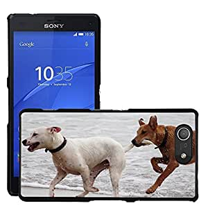 Just Phone Cases Etui Housse Coque de Protection Cover Rigide pour // M00421764 Perros Bastones Reproducir Bite Romp // Sony Xperia Z4 E6553