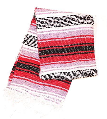 Mexican Yoga Blanket -Great For Yoga Rug, Yoga Blanket