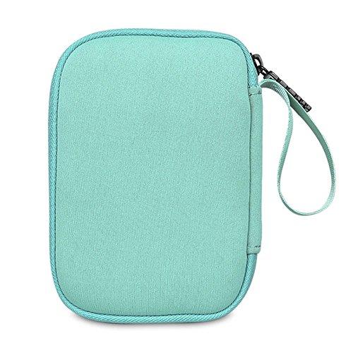 BUBM Enclosure 2.5'' USB 3.0 Hard Drive Bag Power Bank Portable Charge Travel Case, 5.9'', Powder Blue (QYD-S-01) by BUBM (Image #4)