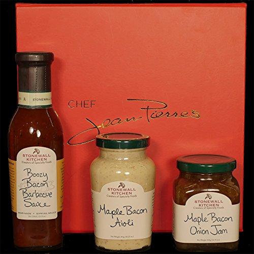 Bacon Gift Box - Boozy Bacon Barbecue Sauce, Maple Bacon Onion Jam & Maple Bacon Aioli