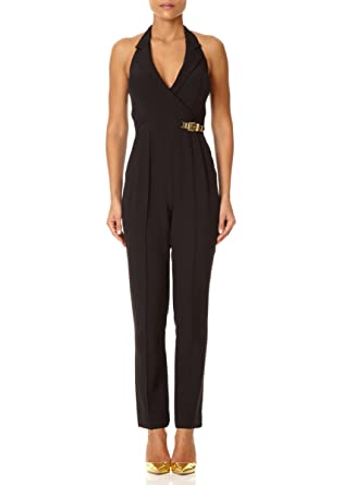 44be2e14a3d9 Forever Unique - ANTONIA - Black Tailored Jumpsuit with Open Back Detail 6