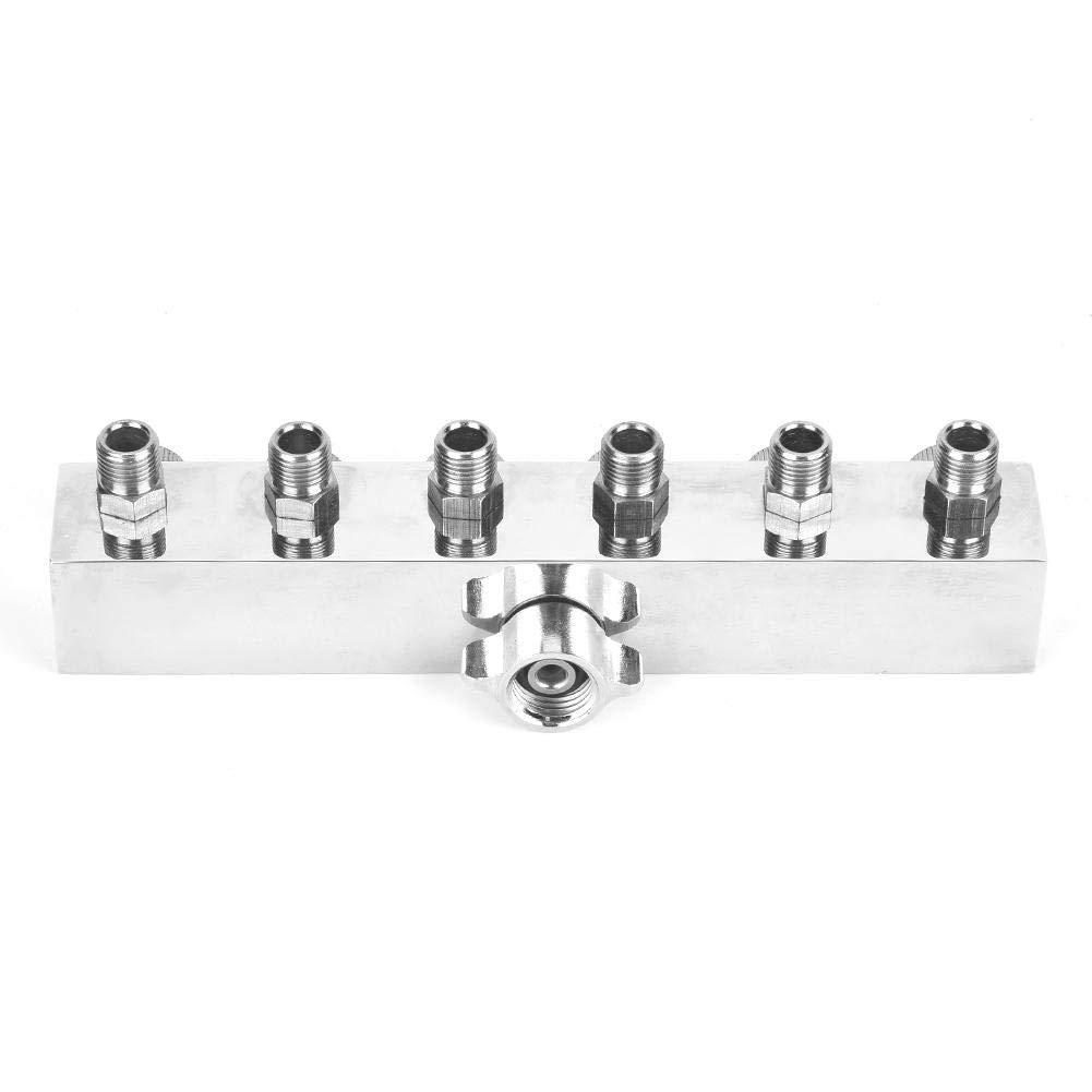 accessori di montaggio adattatore aerografo per tubo flessibile in alluminio regolabile multifunzione #2 T1-6 One with Six Accoppiatore a rilascio rapido per tubo flessibile aerografo