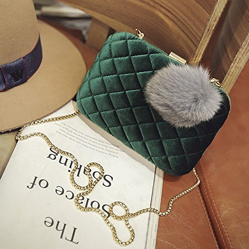 Green Bag Diagonal Evening Hand Bag Fashion Brown Ball Banquet Color Ladies Clutch Bag Packet Hair Bag ZEgSqnnw