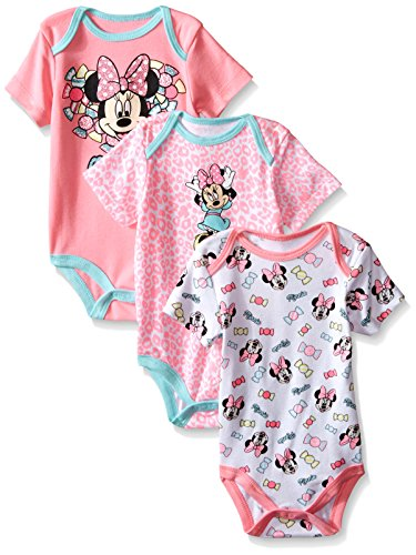 UPC 887622491689, Disney Baby Minnie Mouse 3 Pack Bodysuits, Multi/Pink, 24 Months