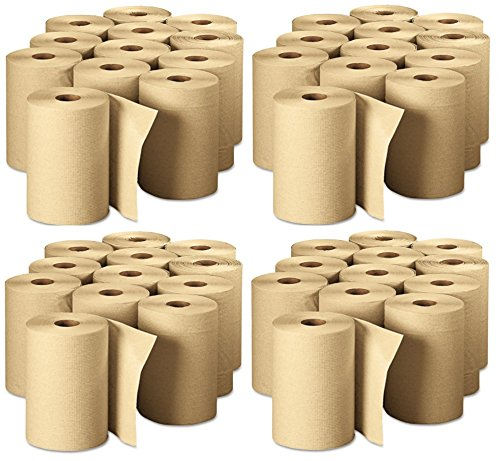 Georgia Pacific Professional 26401 Non-Perforated Paper Towel Rolls, 7-7/8'' x 350', Brown (Pack of 12)