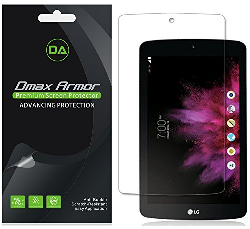 [3-Pack] Dmax Armor for LG G Pad F7.0 (Sprint Only) Anti-Glare & Anti-Fingerprint Screen Protector - Lifetime Replacements Warranty- Retail - Tablet V410 Screen Protector Lg