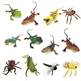 BOLEY Jumbo 14-inch Lizards and Bugs Action Figure Playset, 12 Count Educational Lizard toy making the perfect Party Pack and Gag Gift!