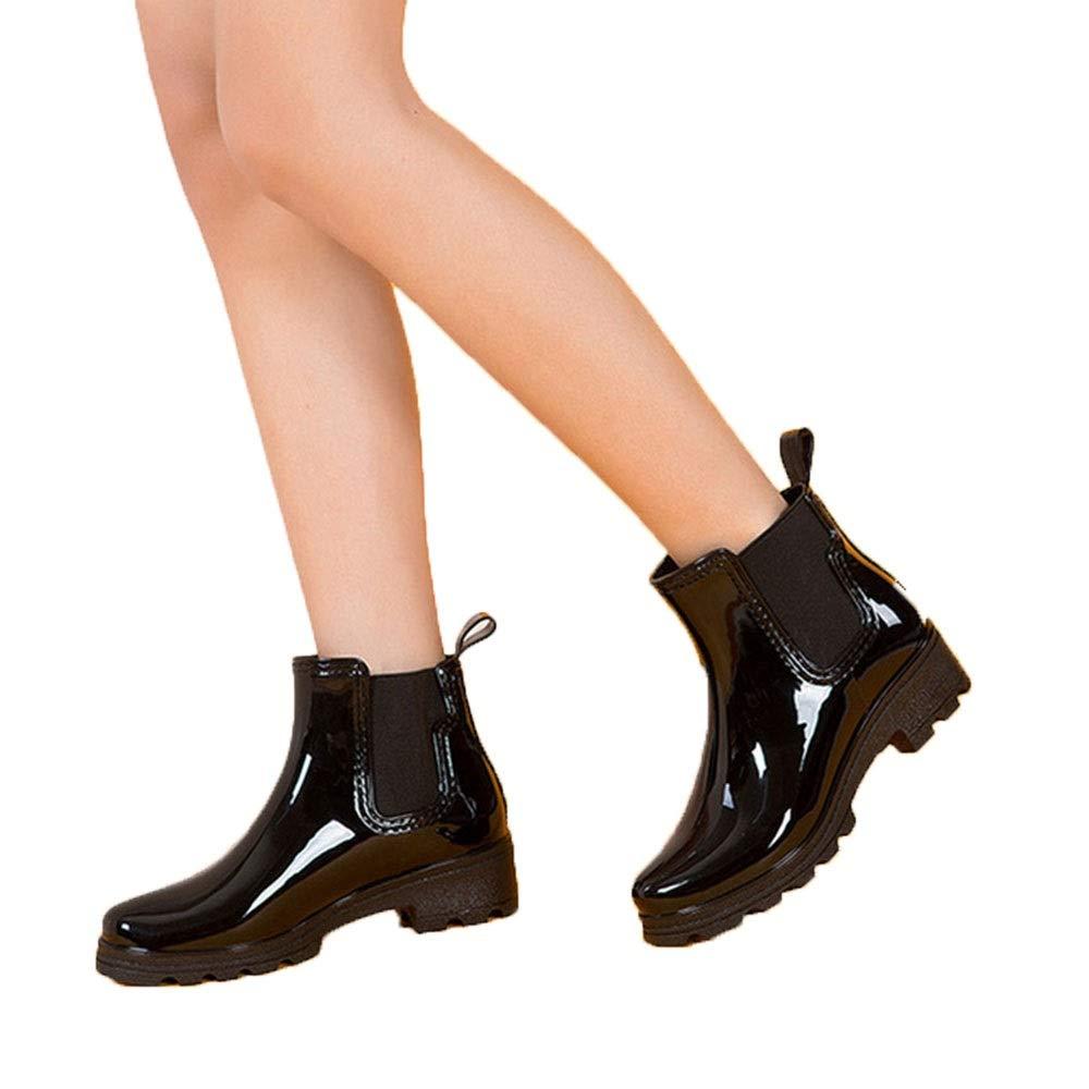 Short Tube Elastic Shoes Non-Slip rain Boots Rubber Shoes FXNN Rain Boots