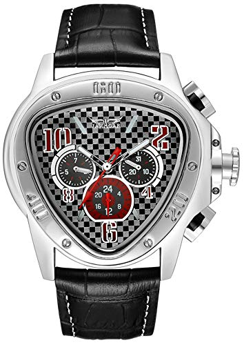 Gosasa Men's Oversized unique Style Triangle Dial Automatic Mechanical Leather Band Watch