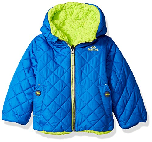 4t Jacket (Pacific Trail Toddler Boys' Reversible Jacket, Blue, 4T)