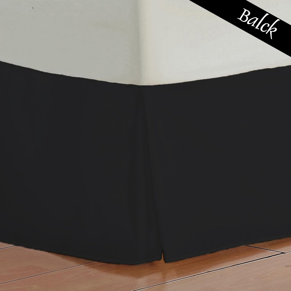 16 inch Fall Bed Skirt 400 TC Solid Pattern 100/% Egyptian Cotton All Sizes /& Colors Queen , White