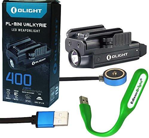 OLIGHT PL Mini 400 Lumen Magnetic USB Rechargeable Pistol Light EdisonBright USB Powered LED Light