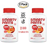 Smarty Pants - Omega 3 Fish Oil DHA/EPA with Vitamins D3 & B12 Multivitamin Supplement for Kids - 240 Gummies (2 Packs of 120) Natural Flavor (Lemon, Orange & Strawberry Banana) - NON GMO, Gluten Free