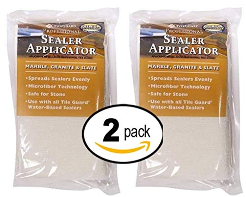 TileGuard Professional Microfiber Sealer Applicator Pad For Marble, Granite or Slate - 2 Pack ()