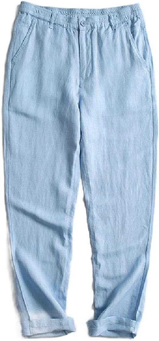 Tootess Men's Breathable Thin Chinese Style Oversized Jogging Harem Pants