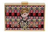 Love Moschino Women's Brushed Gold Digital Print Crossbody Clutch Handbag