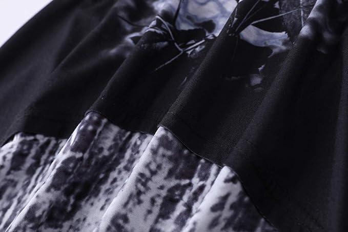 Lukame✯ Nuevas Mujeres Estampadas Patchwork O-Cuello Pullover Top ...