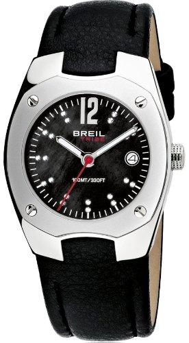 Breil TW0397 - Reloj analógico de cuarzo para mujer con correa de piel, color negro: BREIL: Amazon.es: Relojes
