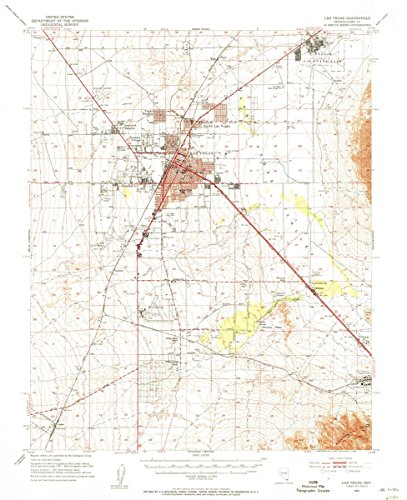 Historical Map Reproductions (Historic Map   Historical Topographic Map, 1952 Las Vegas, NV () USGS     Vintage Chart Wall Art Poster Decor Reproduction   24in x 30in)