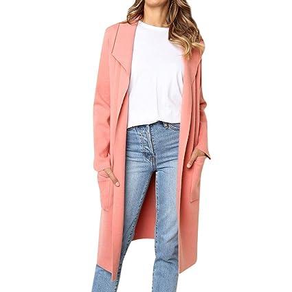 HhGold Escudo de Las señoras Outwear Chaqueta Parka Mujeres Sólido Cuello de Cobertura Bolsillo Color sólido
