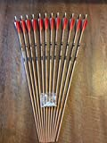 Gold Tip Traditional 400 Arrows With Shield Cut Feathers Custom Made Set of 12