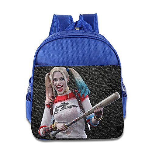 Suicide Squad Harley Quinn Backpack Children School Bags RoyalBlue (Kids Harley Quinn Mallet)