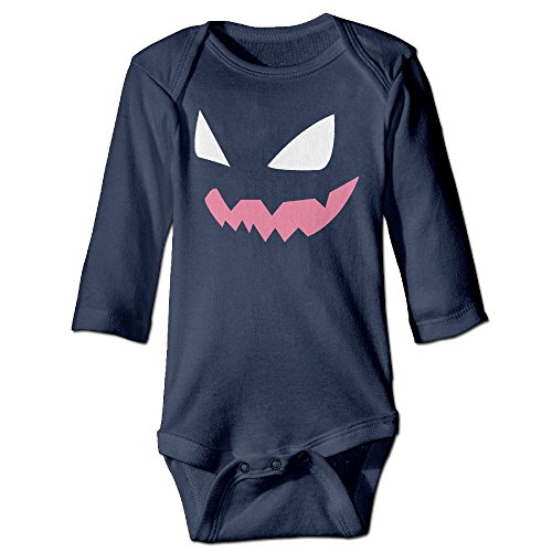 Bro-Custom Evil Gengar Face For 6-24 Months Infant Romper Outfits 24 Months (Doc Brown Outfit)
