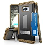 Galaxy S8+ Case, Autumn Camouflage Tree CAMO Real Woods TRI-Shield Rugged CASE Cover with Magnetic Kickstand + Lanyard Strap + Credit Card Wallet Slot for Samsung Galaxy S8 Plus Phone (SM-G955), S8+ 9 COMPATIBILITY: