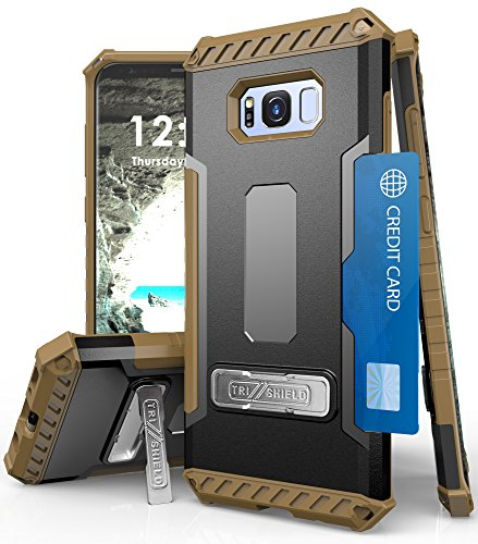 Galaxy S8+ Case, Autumn Camouflage Tree CAMO Real Woods TRI-Shield Rugged CASE Cover with Magnetic Kickstand + Lanyard Strap + Credit Card Wallet Slot for Samsung Galaxy S8 Plus Phone (SM-G955), S8+ 2 COMPATIBILITY:
