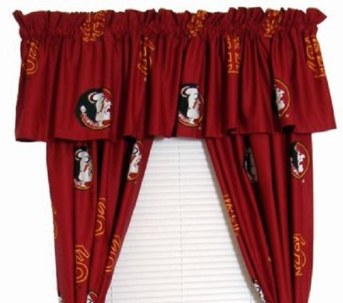 (Florida State Seminoles - Set of (2) Printed Curtain Valance/Drape Sets (Drape Length 63