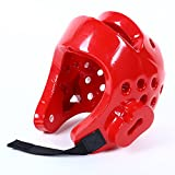EDTara Martial Arts Sparring Helmet Boxing Head Guard Karate Sparring Headgear Full-Face Boxing Protection Gear Red S
