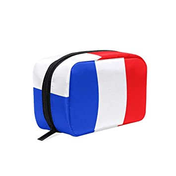 adc6ce72a60c Amazon.com : Makeup Bag French Flag Best Girls Travel Cosmetic Bag ...