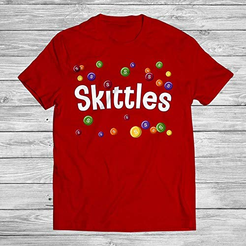 WINOTREX Skittles Tasty Colors Rainbow Colorful Candy Halloween Costume Customized Handmade T-Shirt Hoodie/Long Sleeve/Tank Top/Sweatshirt -