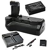 Battery Grip Bundle F/Canon Rebel T6i, T6s: Includes BG-E18 Replacement Grip, 1-Pk LP-E17 Long-Life Battery, Rapid Dual Charger, UltraPro Accessory Bundle