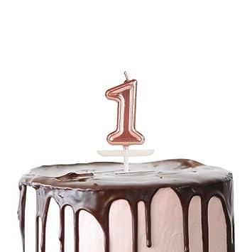 Amazon.com: Moropaky - Velas de cumpleaños con números para ...
