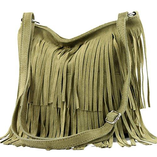 Italian Leather Bag, Hanging Bag, Shoulder Bag, To T125 Olivgrün