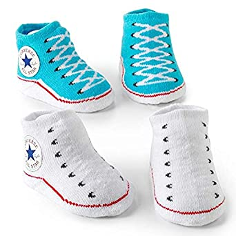 0-6 Months Converse Baby Booties Set for Infant Boys and Girls