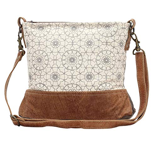 Myra Bags Ferris Wheel Upcycled Canvas Crossbody Bag S-1034