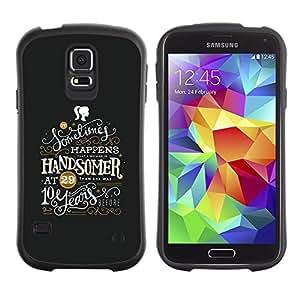 Suave TPU GEL Carcasa Funda Silicona Blando Estuche Caso de protección (para) Samsung Galaxy S5 / CECELL Phone case / / Handsome Message Girl Inspiring /