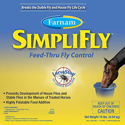 Farnam SimpliFly Feed-Thru Fly Control for Horses, Breaks and Prevents the Fly Life Cycle, 10 pound by Farnam (Image #6)