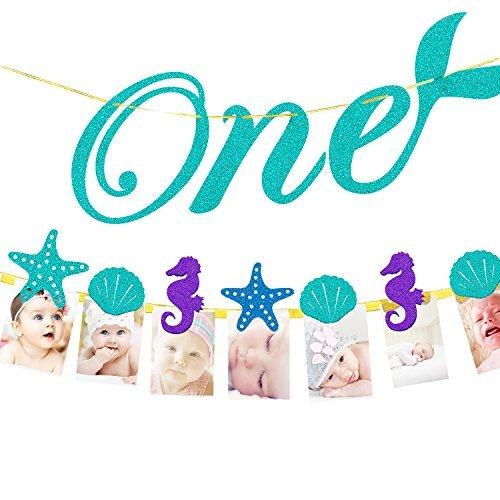 Little Princess - Decoración de fiesta de primer cumpleaños – Cartel de fotos de hito mensual para recién nacidos hasta...