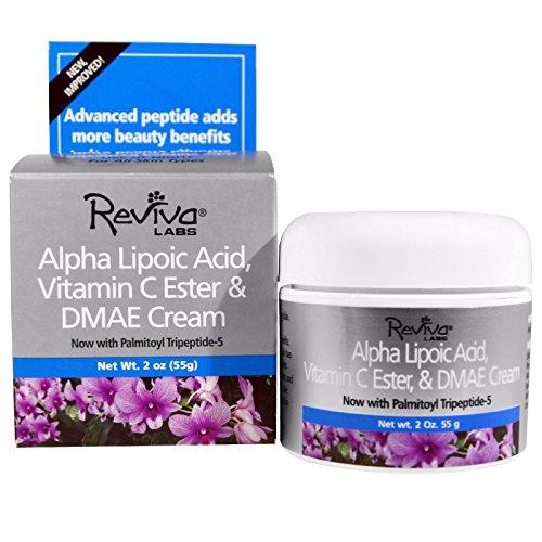 Reviva Labs, Alpha Lipoic Acid, Vitamin C Ester & DMAE Cream, 2 oz (55 g) - 3PC by Reviva