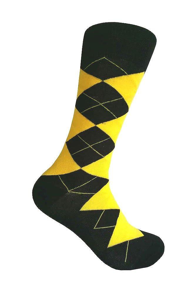 Mens Yellow Dress Socks,One size fits most men; Sock Size 10-13.