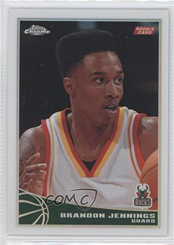 Brandon Jennings #298/500 (Basketball Card) 2009-10 Topps - Chrome - Refractor #102